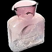 Vintage Blenko Amethyst To Clear Art Glass Bottle Vase