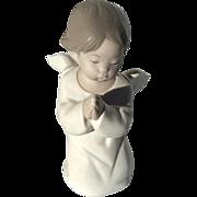 Vintage Signed Lladro Matte Finish Praying Angel