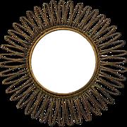 Vintage Italian Gilt Metal Sunburst Mirror