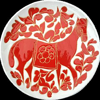 Signed Gio Ponti Ceramiche Mid-Century Charger