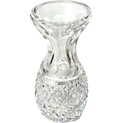 Signed Waterford Cut Crystal Bud Vase