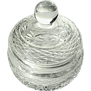 Signed Waterford Crystal Covered Candy Dish