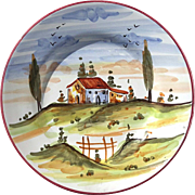 Tuscan Salad Or Desert Plate Made In Italy For Vietri
