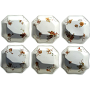 Set Of Six French Haviland Limoges Porcelain Berry Bowls