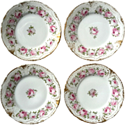 Set Of Four French Haviland Limoges Porcelain Desert Plates
