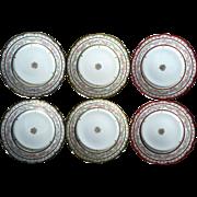 Set Of Six Antique GDA French Limoges Porcelain Plates