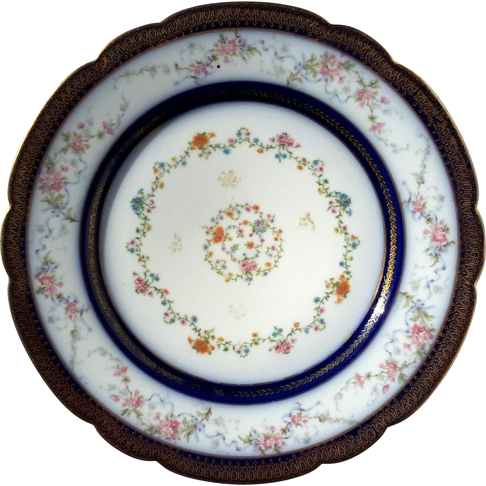 Antique French Haviland Limoges Porcelain Plate From