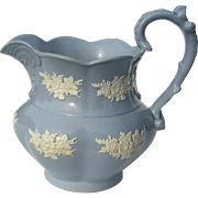 19th Century Glazed Jasperware Pottery Pitcher