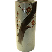 Large Vintage Japanese Art Pottery Ming Tree Vase