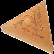 Vintage Italian Inlaid Wood Marquetry Vanity Jewel Box