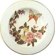 19th Century Royal Worcester Floral And Butterfly Ring Dish