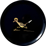 Vintage Couroc Of Monterey Road Runner Serving Tray