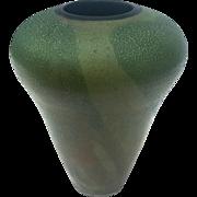 Vintage Artist Signed American Raku Art Pottery Vase