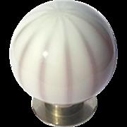 Vintage Italian Murano Glass Globe Lamp