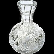 Antique Brilliant Cut Crystal Bottle Wine Decanter