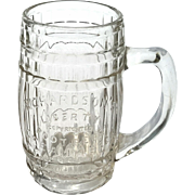 Richardson's Liberty Root Beer Antique Glass Advertising Barrel Mug