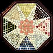 Vintage Wood Framed Mosaic Tile Trivet