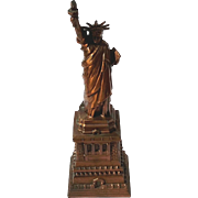Vintage Statue Of Liberty Souvenir Cast Metal Bank