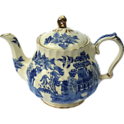 Vintage Sadler England Blue Willow Pottery Teapot