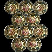 Set Of Ten Antique KPM German Porcelain Berry Bowls