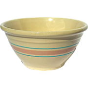 Vintage McCoy Yelloware Pottery Mixing Bowl