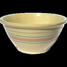 Vintage McCoy Yelloware Pottery Mixing Bowl