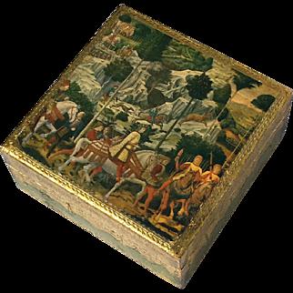 Vintage Italian Florentine Gilt Wood Box