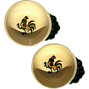 A Pair Of Vintage Poppytrail Vernon Handled Soup Bowls In California Provincial By Metlox
