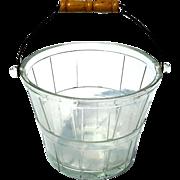 Vintage Signed Anchor Hocking Glass Apple Basket