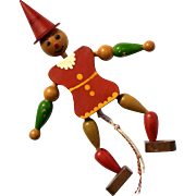 Vintage Wooden Pinocchio String Puppet Toy