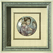 Hibel Studio Kaiser Porcelain Joanna And Children Plaque