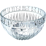 Large Signed Tiffany & Co Atlas Crystal Bowl