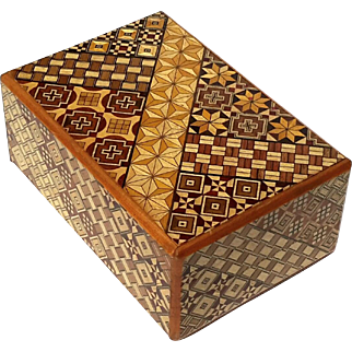 Vintage Japanese Wooden Puzzle Box