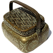 19th Century Chinese Brass Cricket Box