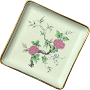 Vintage French Limoges Porcelain Square Tray