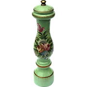Vintage Painted Wood Floral Florentine Pepper Mill