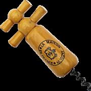 Antique French Wooden Wine Corkscrew