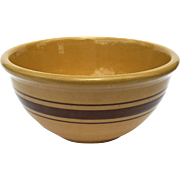 Vintage Banded Yelloware Bowl