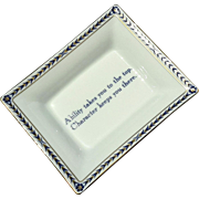 Mottahedeh Porcelain Ring Dish Tray