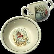 Wedgwood Peter Rabbit Two Piece Child's Bowl & Mug Set
