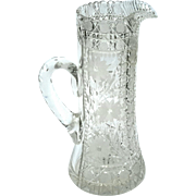 Antique Heavy Cut Crystal Pitcher