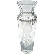 Vintage Heavy Cut Crystal Vase