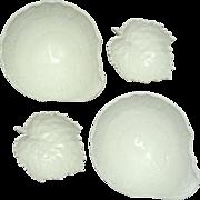 Vintage Set Of 4 KPM White Porcelain Bowls