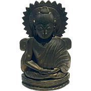Antique Carved Rosewood Seated Buddha Figure