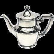 Vintage Hotel Silver Teapot