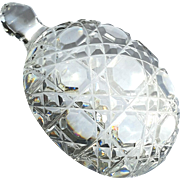Signed Waterford Cut Crystal Turtle Paperweight