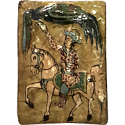 18th Century Persian Pottery Tile
