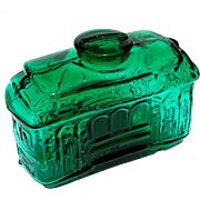 Vintage Emerald Green Glass San Francisco Cable Car Bank