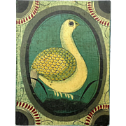 Vintage Folk Art Dove Painting