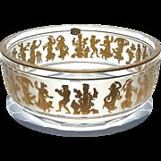 Val St Lambert Gold Decorated Danse De Flore Bowl